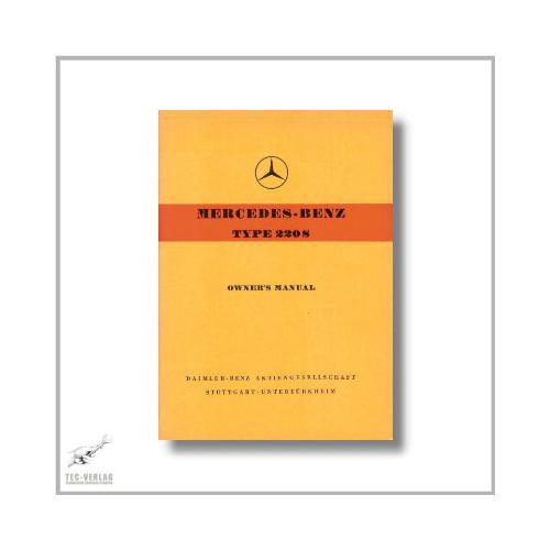 Mercedes-Benz W111 220S (59>) Owner`s Manual