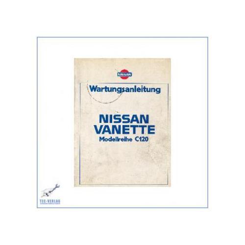 Automobilia Nissan Vanette C120 Werkstatthandbuch Wartungsanleitung
