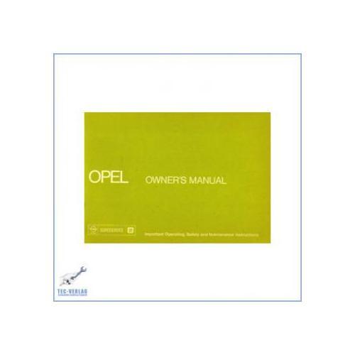 Opel Kadett, Ascona, Manta, Rekord (ab 1976) - Bedienungsanleitung