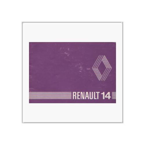 Renault 14 - Betriebsanleitung