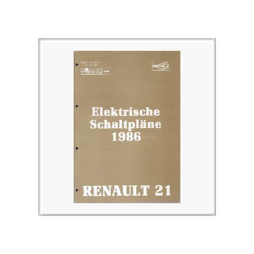 Renault 21 1986 - Schaltpläne