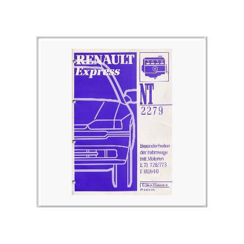 Renault Express E7J 728 , 773 , F 8Q640 - Werkstatthandbuch Nachtrag