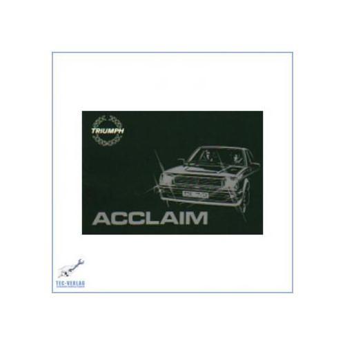 Triumph Acclaim (ab 1981) - Bedienungsanleitung
