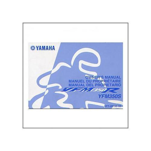 Yamaha YFM 350 S - Owners Manual