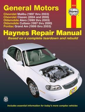 Chevrolet Malibu (97 - 03) - Repair Manual Haynes