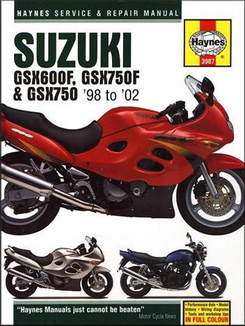 Suzuki GSX600F GSX750F & GSX750 (98-02) Repair Manual Haynes