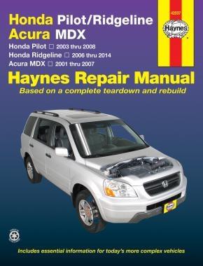 Honda Pilot Ridgeline Acura MDX Reparaturanleitung