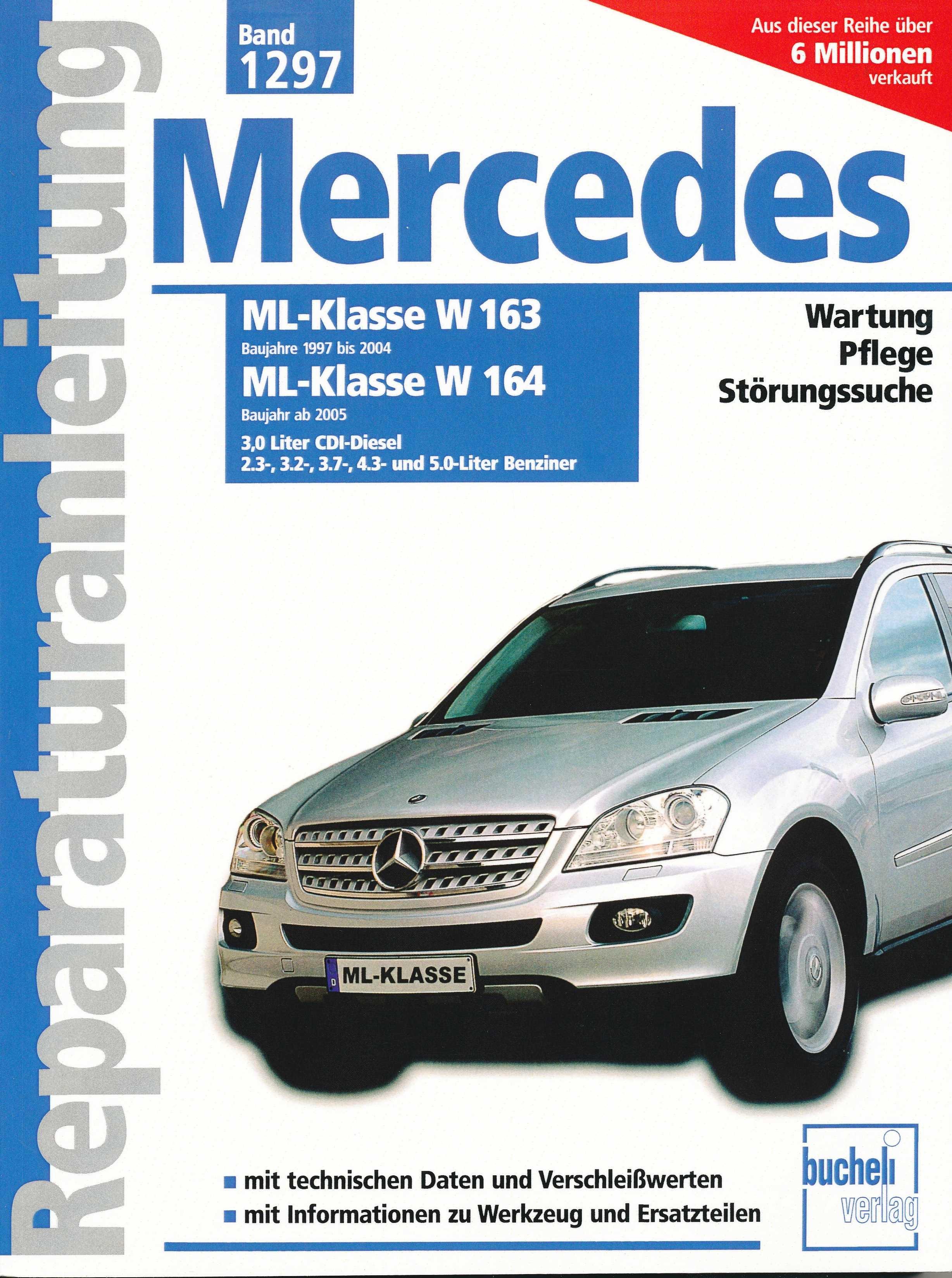 mercedes ml klasse w 163 w 164 1997 2005 reparaturanleitung f r 39 90 beim tec verlag. Black Bedroom Furniture Sets. Home Design Ideas