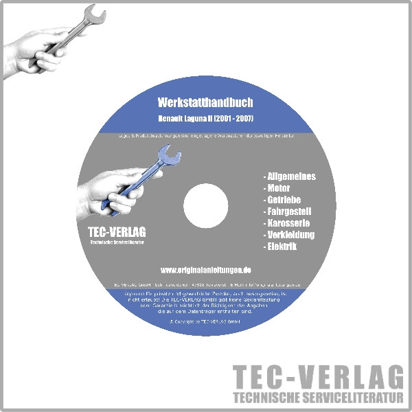 Renault Laguna I Werkstatthandbuch Reparaturanleitung CD