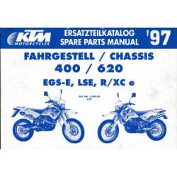 KTM 400 / 620 EGS-E, LSE, R/XC e - Ersatzteilkatalog Chassis