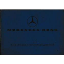 Mercedes L 206 / 306 DG - Sonderausführungsverzeichnis Aufbau - Ersatzteilliste