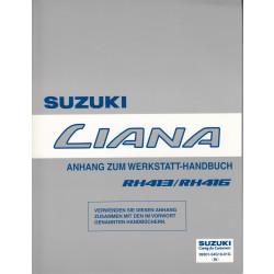 Suzuki Liana (01-07) - Anhang zum Werkstatthandbuch - Erweiterung