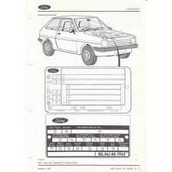 Ford FIesta (1976 - 1983) - Werkstatthandbuch