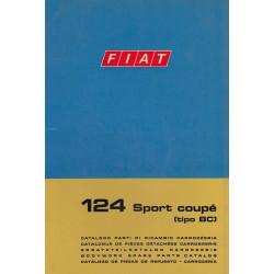 Fiat 124 Sport Coupe Typ BC (1969)  - Ersatzteilkatalog Karosserie