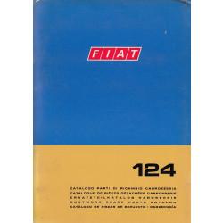 Fiat 124 (1970)  - Ersatzteilkatalog Karosserie