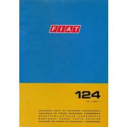 Fiat 124 (1972)  - Ersatzteilkatalog Karosserie