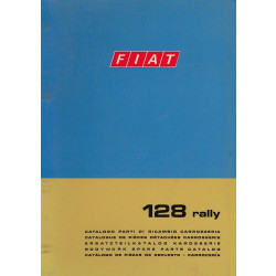 Fiat 128 rally (1972)  - Ersatzteilkatalog Karosserie