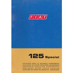 Fiat 125 Special (1970)  - Ersatzteilkatalog Karosserie