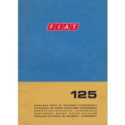 Fiat 125 (1968)  - Ersatzteilkatalog Karosserie