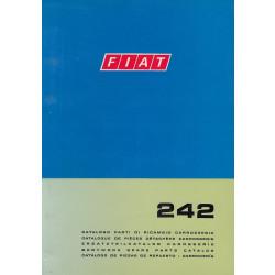 Fiat 242 (1973)  - Ersatzteilkatalog Karosserie