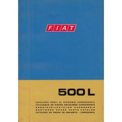 Fiat 500 Typ L (1968)  - Ersatzteilkatalog Karosserie