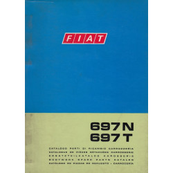 Fiat 697N / 697T (1973)  - Ersatzteilkatalog Karosserie