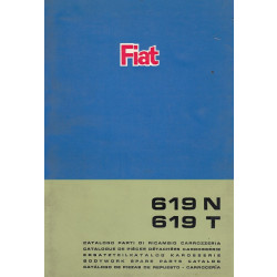 Fiat 619 N / 619 T (1968)  - Ersatzteilkatalog Karosserie
