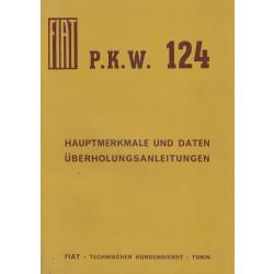 Fiat 124 (1966)  - Hauptmerkmale und Daten Überholungsanleitungen