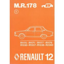 Renault 12 / R12 (1976) Karosserie - Werkstatthandbuch