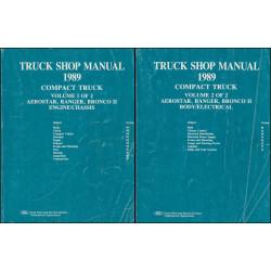 Ford Truck Shop Manual Aerostar Ranger Bronco 2 (1989) - Handbuch 2-Teilig