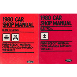 Ford Mustang Capri Granada Pinto Bobcat (1980) Body/Chassis/Electr - Shop Manual