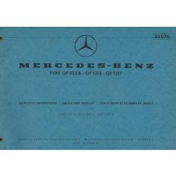 Mercedes Benz OF 1113 B / 1313 / 1317 - (1968) - Ersatzteilkatalog
