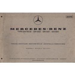 Mercedes Benz OH 1113 B / 1313 / 1317 / 1517 - (1968) - Ersatzteilkatalog