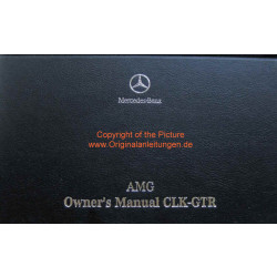 Mercedes Benz AMG CLK GTR - Owners Manual / Betriebsanleitung