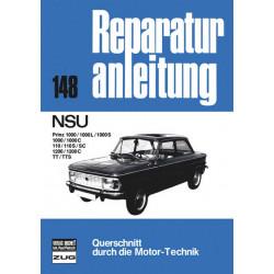 NSU Prinz 110 / 1000 / 1200 / TT / TTS - Reparaturanleitung Bucheli