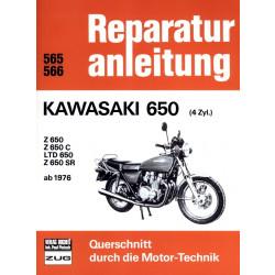 Kawasaki Z 650 / Z 650 LTD / SR / C (1976-1983) - Reparaturanleitung