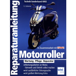 Motorroller Wartung / Pflege / Reparatur- Reparaturanleitung