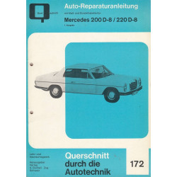 Mercedes 200 D/8 | 220 D/8 (Strich 8 / W113|114) 1.Ausgabe- Reparaturanleitung