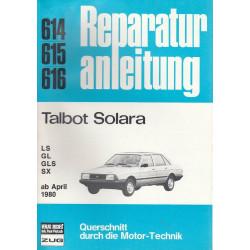 Talbot Solara LS / GL / GLS / SX (ab 1980) - Reparaturanleitung