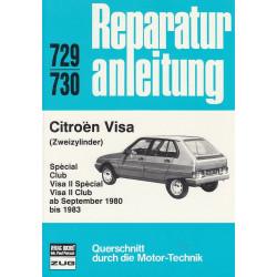 Citroen Visa Zweizylinder (1980 - 1983) - Reparaturanleitung