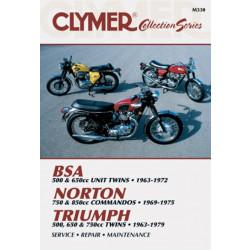 BSA / Norton Commandos / Triumph Twins (63-79) Repair Manual Clymer