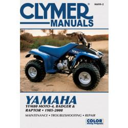 Yamaha YFM80 Moto-4 / Badger / Raptor (85-08) Clymer Repair Manual