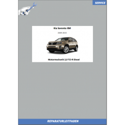 Kia Sorento XM (09-15) Werkstatthandbuch Motormechanik 2,0 TCI-R Diesel