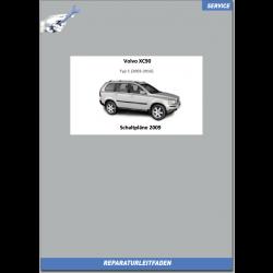 Volvo XC90 (2009) Werkstatthandbuch Schaltpläne