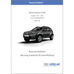 Dacia Duster 2 XJD  2,0 16V (17-19)  Wartung, Inspektion und Instandhaltung