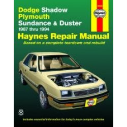 Dodge Shadow and Plymouth Sundance and Duster (87 - 94) - Repair Manual Haynes