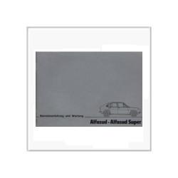 Alfasud Super (78>) - Betriebsanleitung