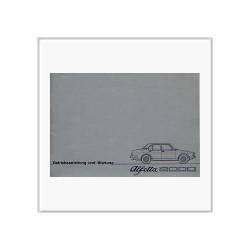 Alfetta 2000 (77>) - Betriebsanleitung