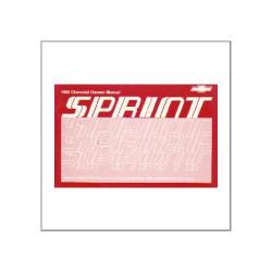 Chevrolet Sprint 1988 - Owner`s manual