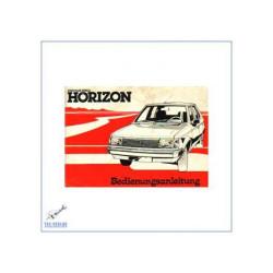 Chrysler Simca Horizon - Bedienungsanleitung